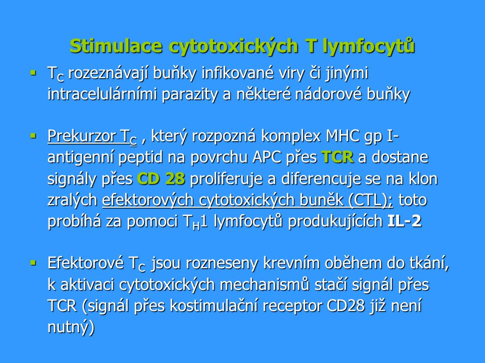 Stimulace cytotoxických T lymfocytů