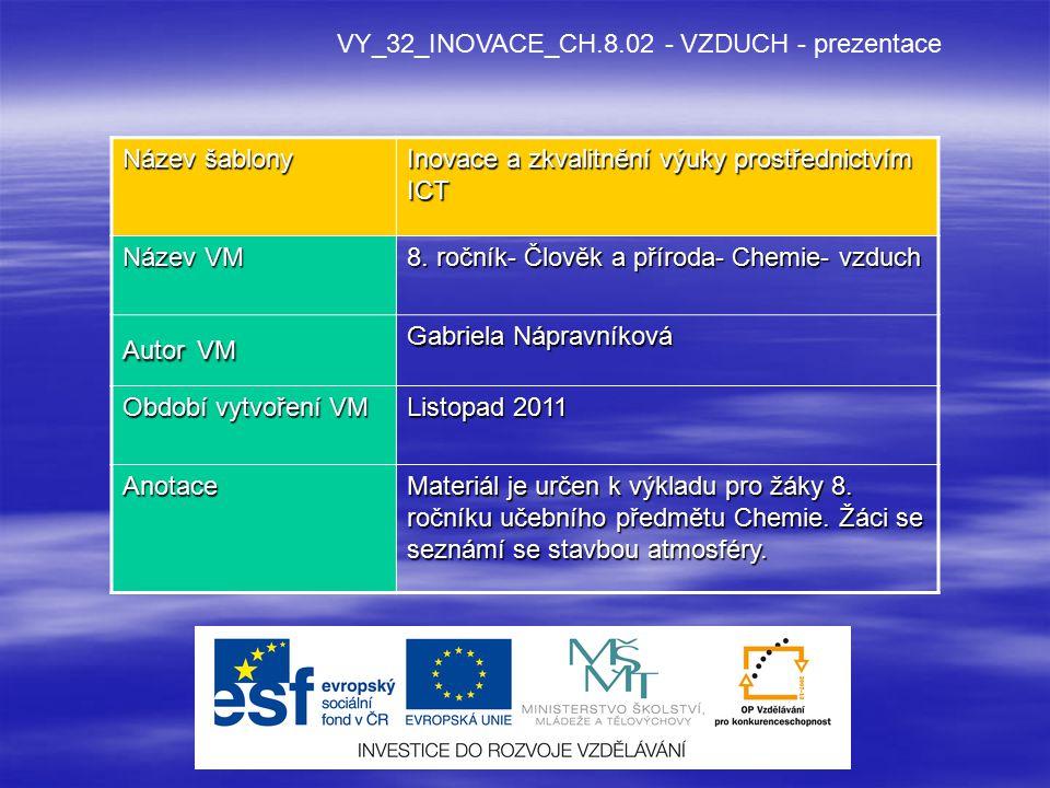 VY_32_INOVACE_CH.8.02 - VZDUCH - prezentace