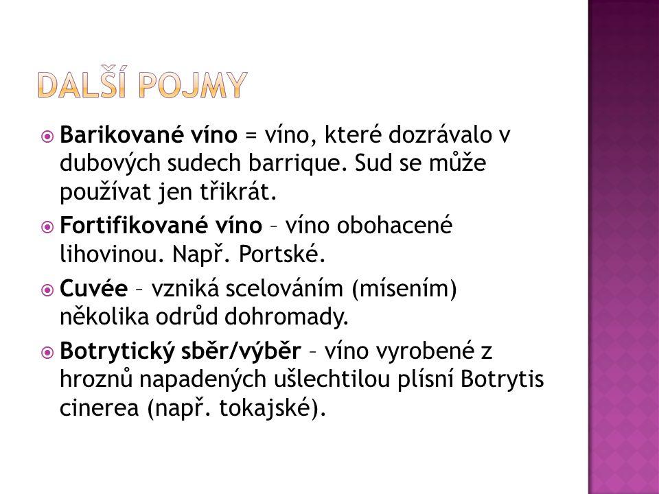 Barikované víno = víno, které dozrávalo v dubových sudech barrique