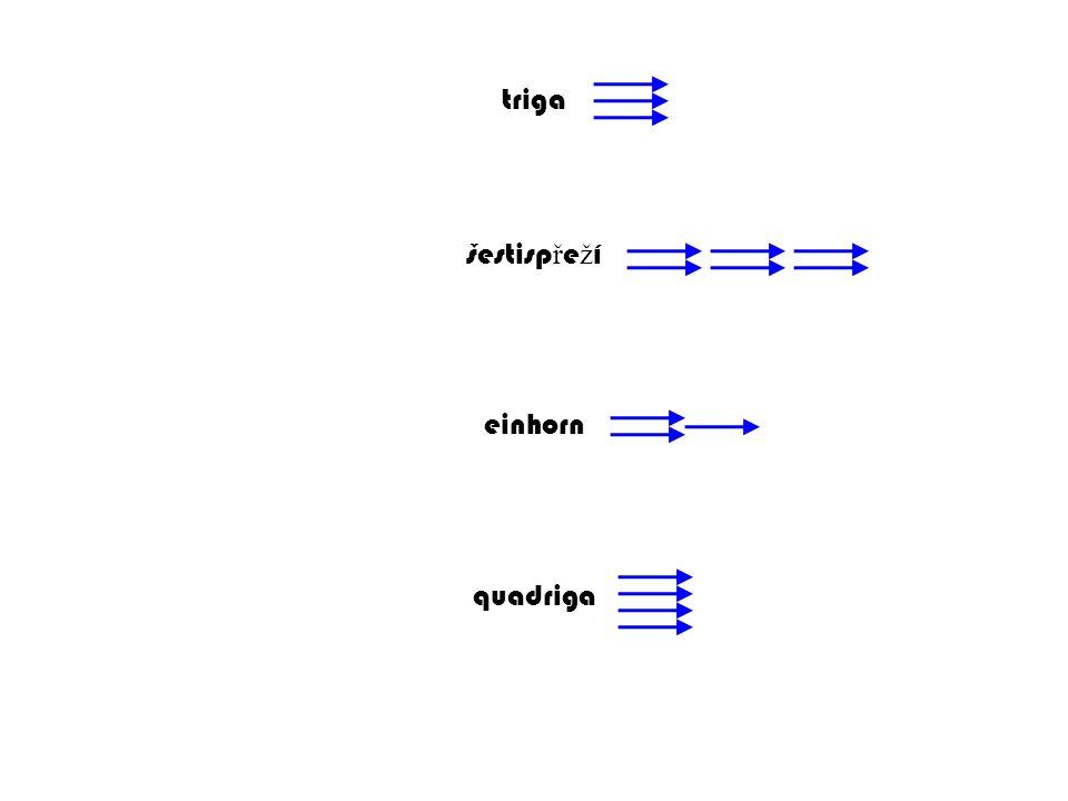 triga šestispřeží einhorn quadriga