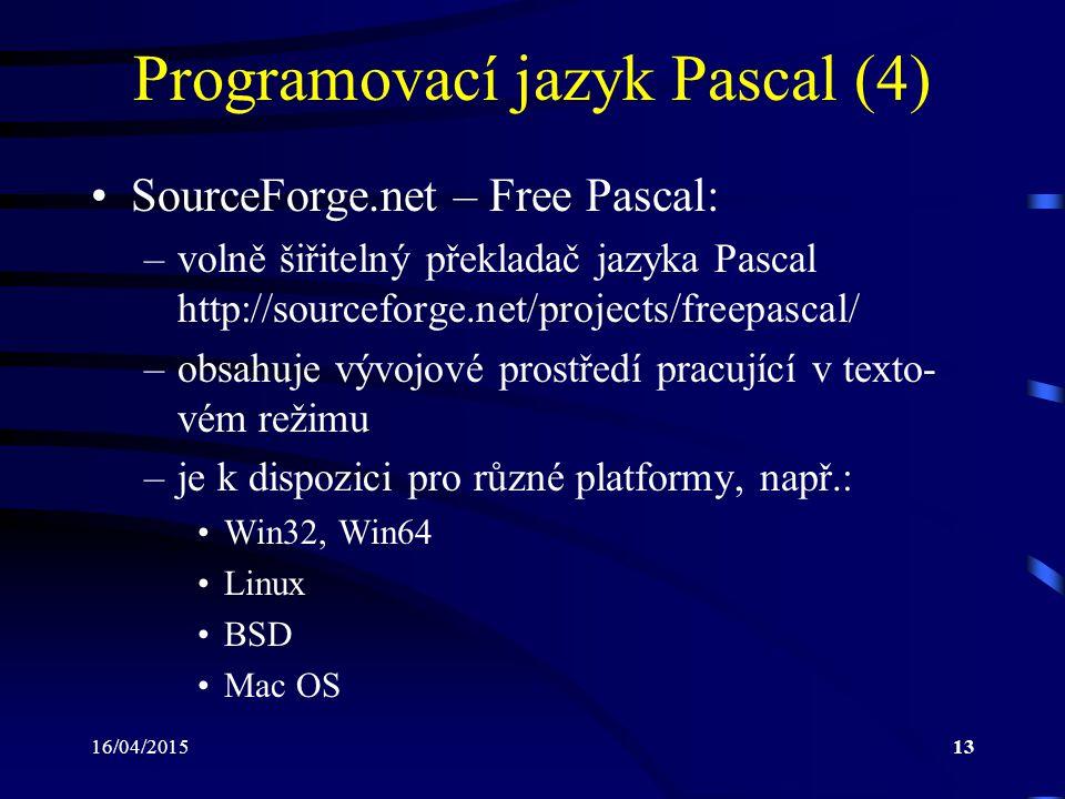 Programovací jazyk Pascal (4)