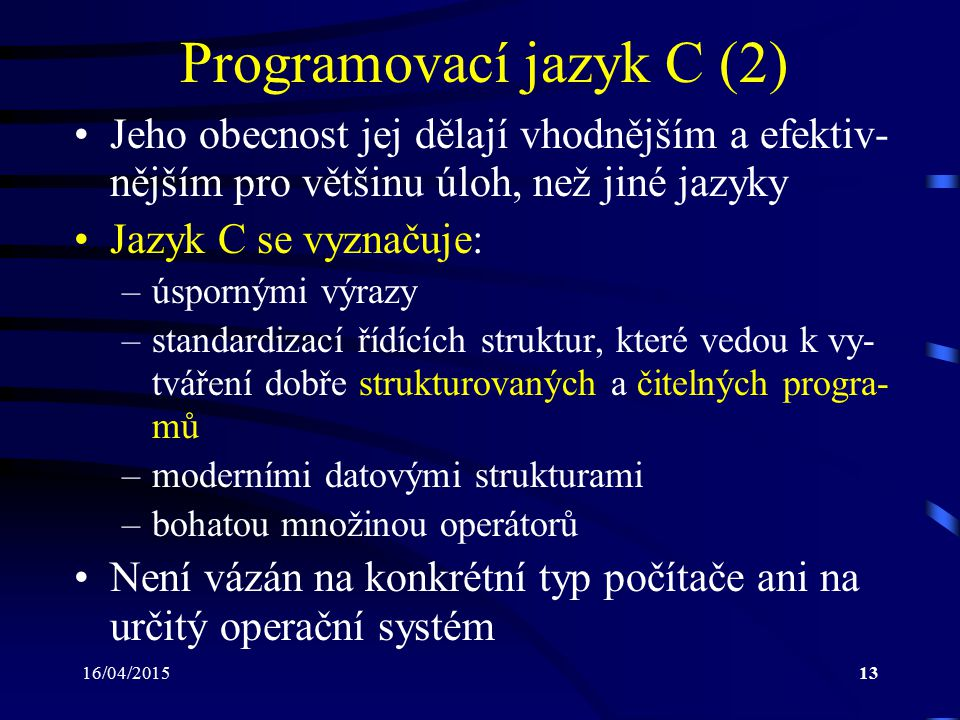 Programovací jazyk C (2)