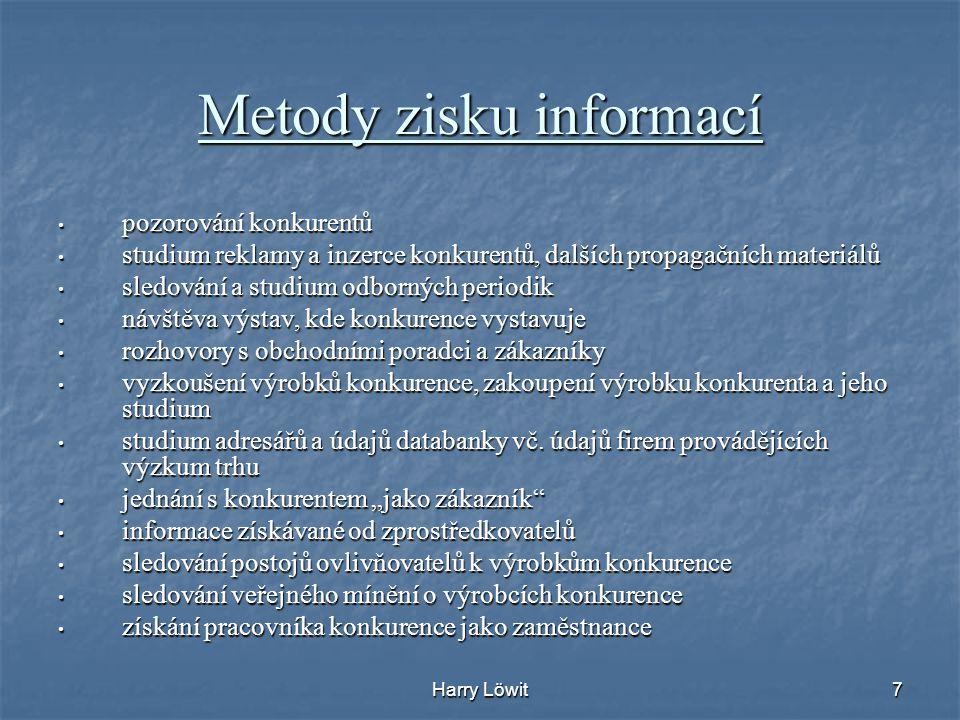 Metody zisku informací