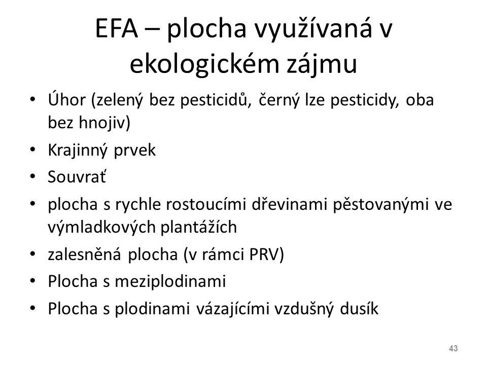 EFA – plocha využívaná v ekologickém zájmu