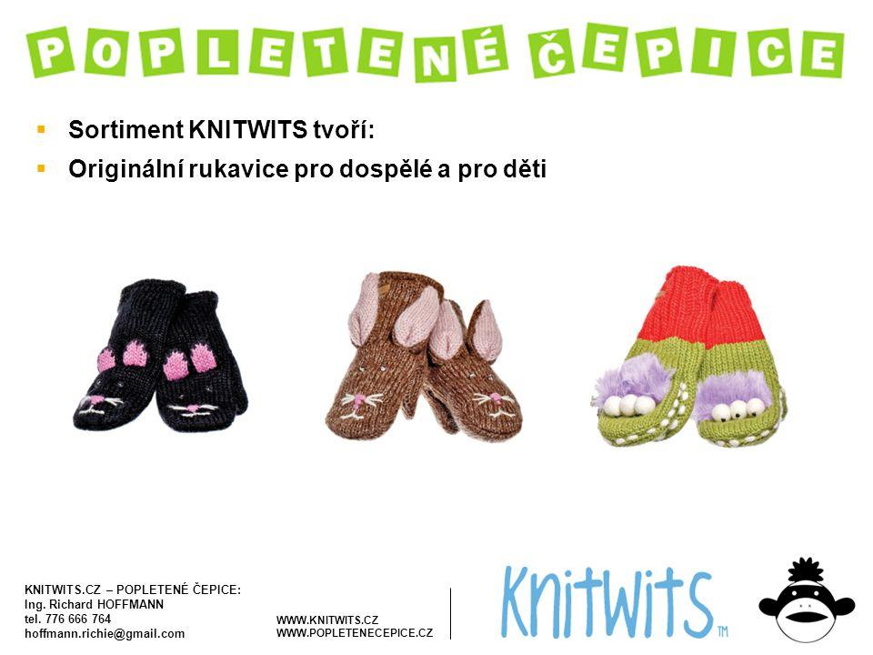 Sortiment KNITWITS tvoří: Originální rukavice pro dospělé a pro děti