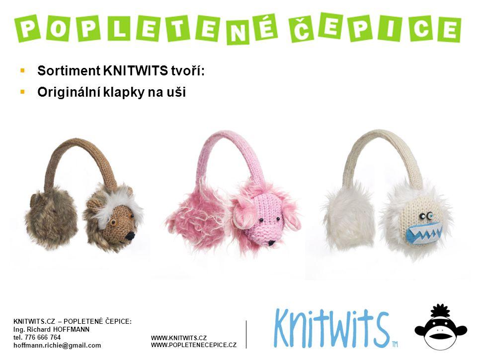 Sortiment KNITWITS tvoří: Originální klapky na uši
