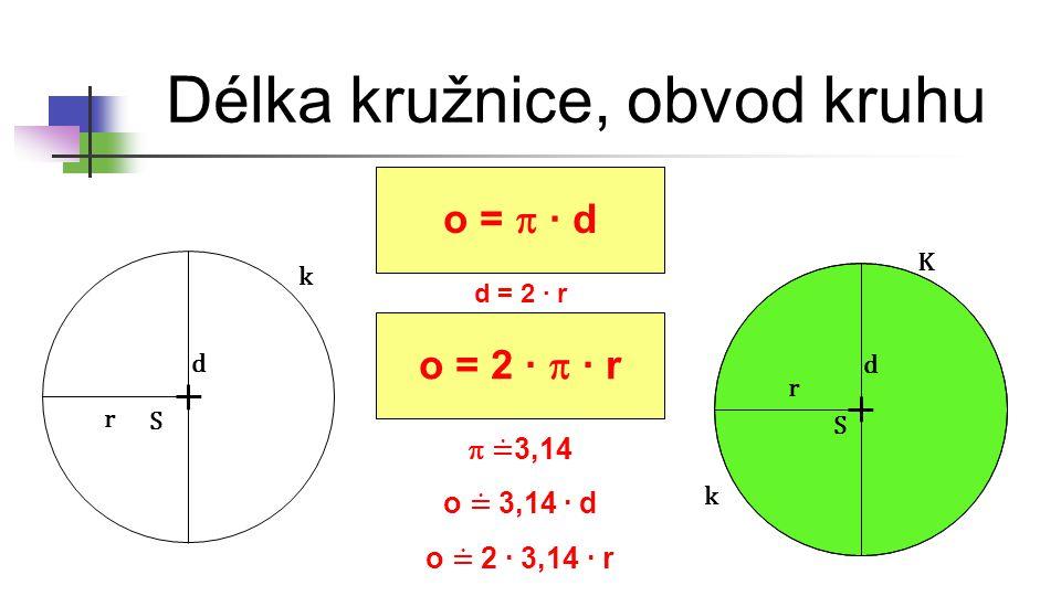 Délka kružnice, obvod kruhu