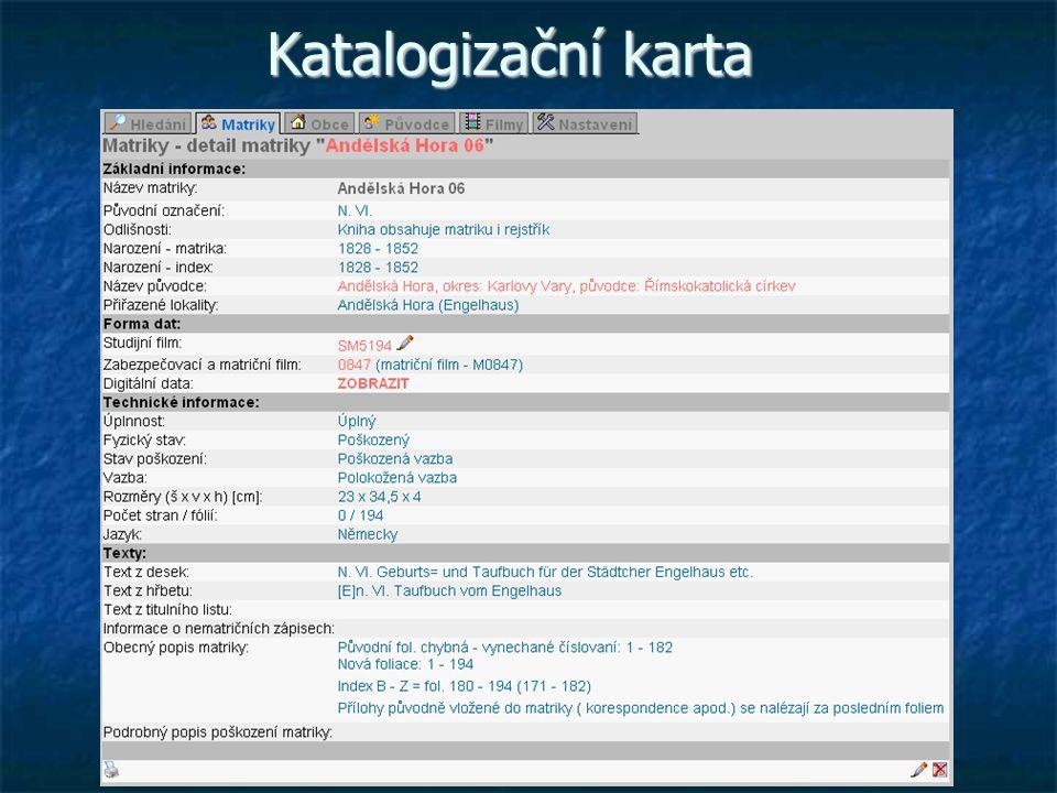Katalogizační karta