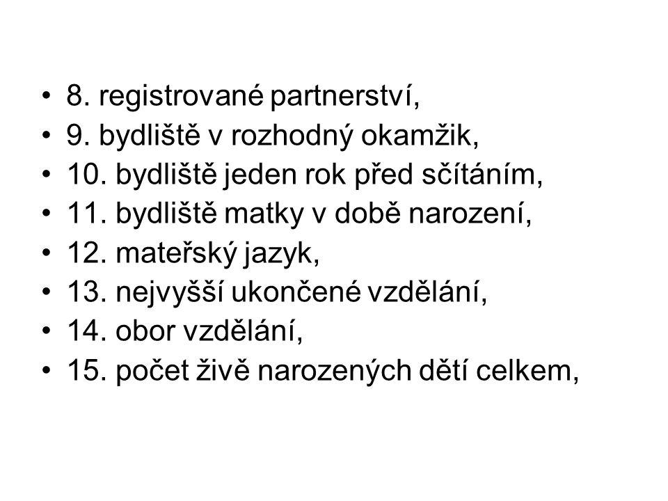 8. registrované partnerství,