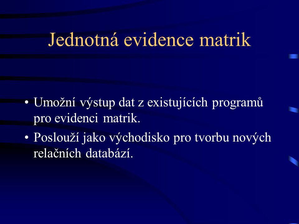 Jednotná evidence matrik