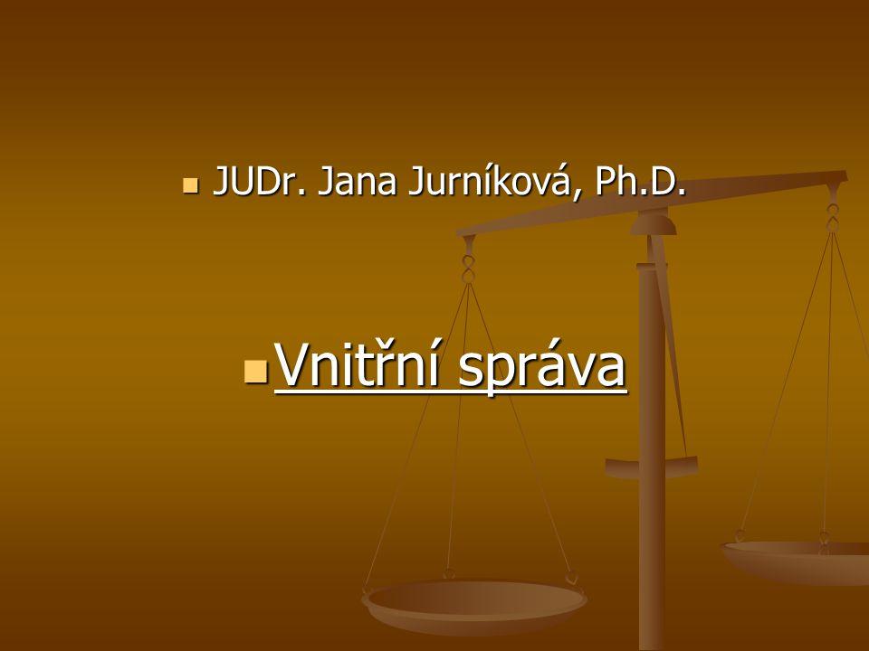 JUDr. Jana Jurníková, Ph.D.