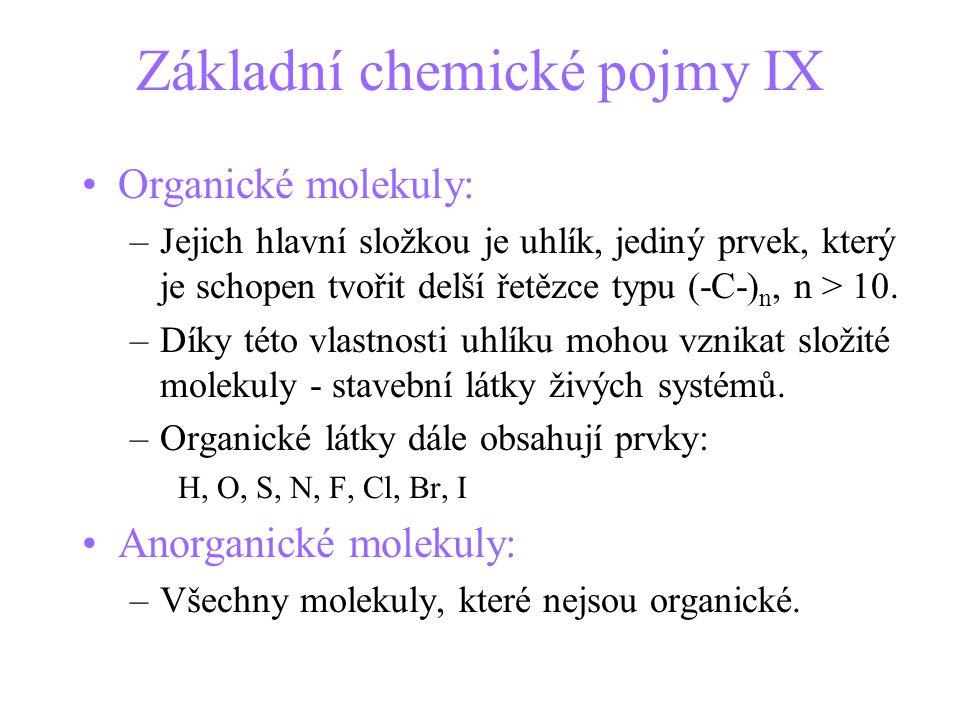 Základní chemické pojmy IX
