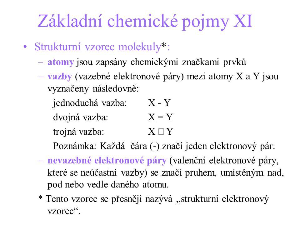 Základní chemické pojmy XI