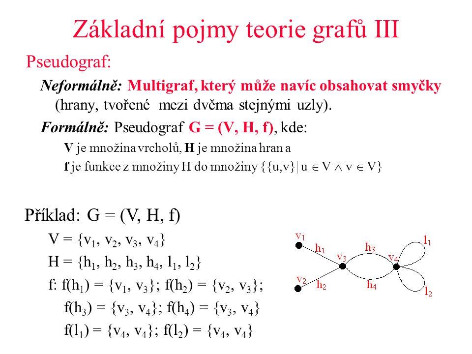 Základní pojmy teorie grafů III