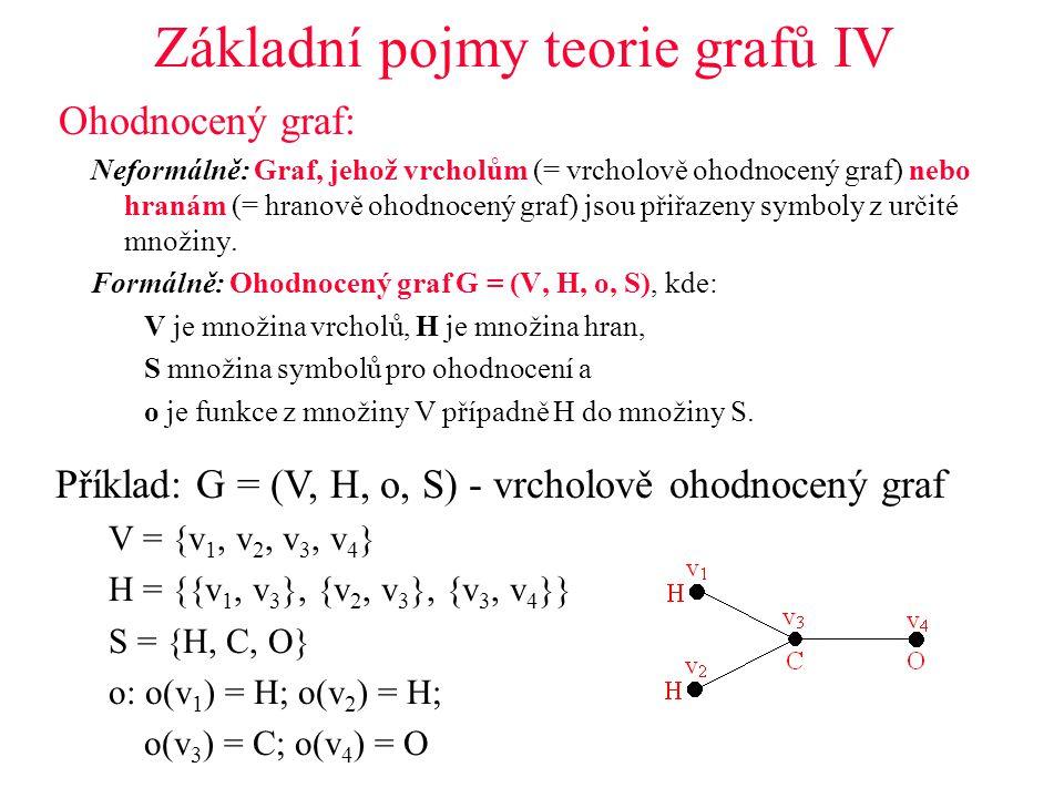 Základní pojmy teorie grafů IV