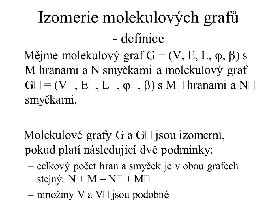 Izomerie molekulových grafů - definice