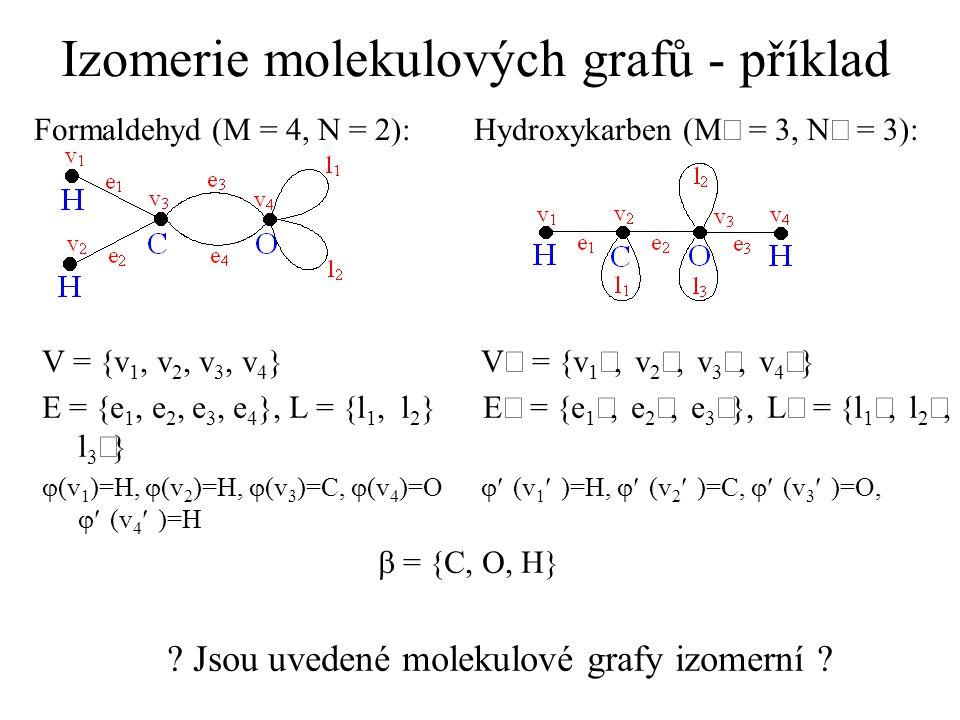 Izomerie molekulových grafů - příklad