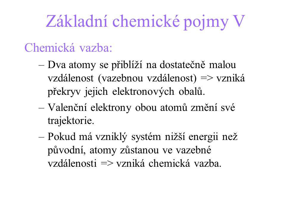 Základní chemické pojmy V