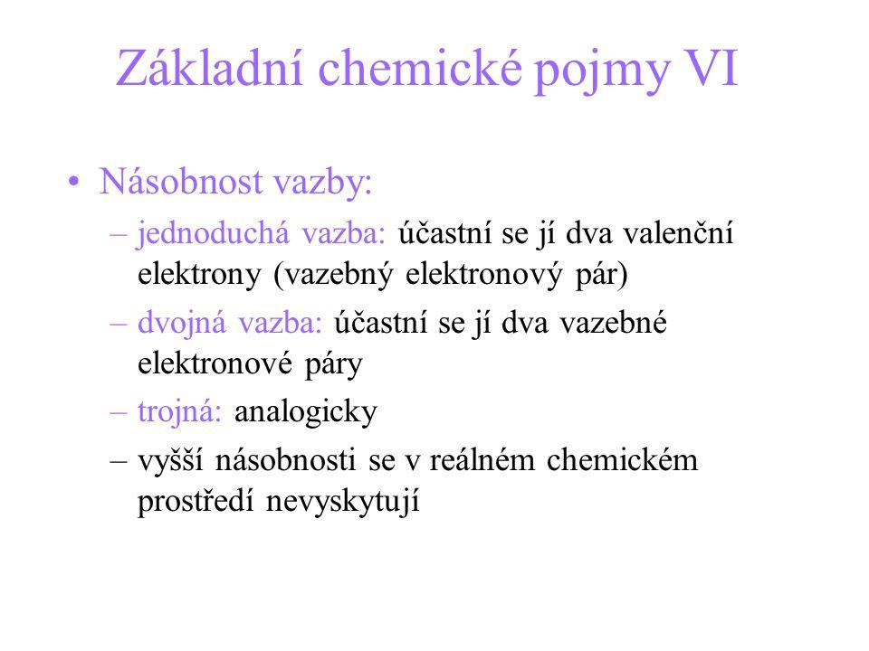 Základní chemické pojmy VI