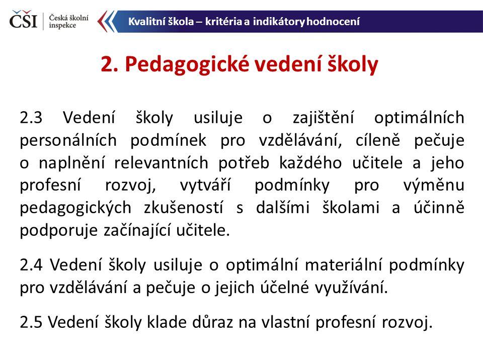2. Pedagogické vedení školy
