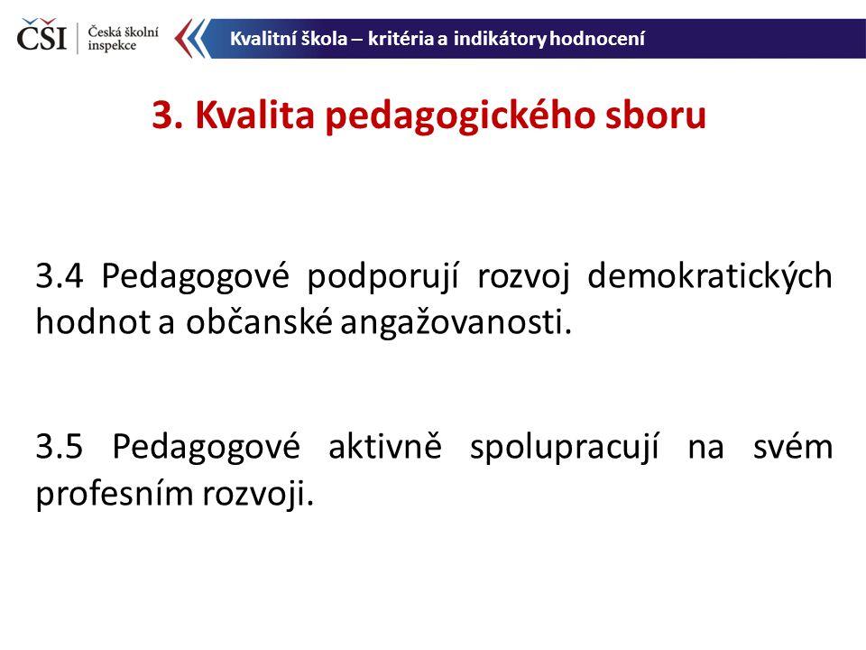 3. Kvalita pedagogického sboru