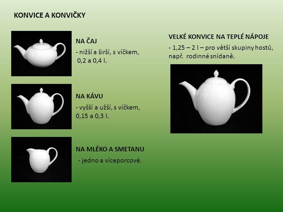 konvice a konvičky velké konvice na teplé nápoje na čaj
