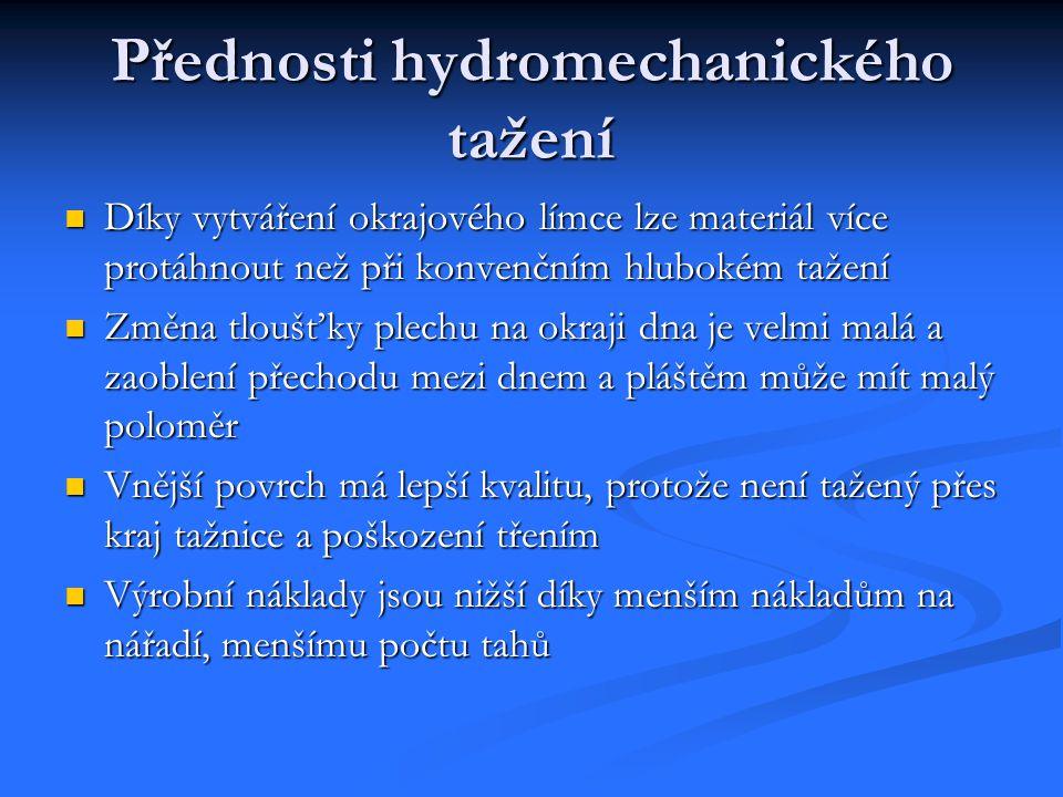 Přednosti hydromechanického tažení
