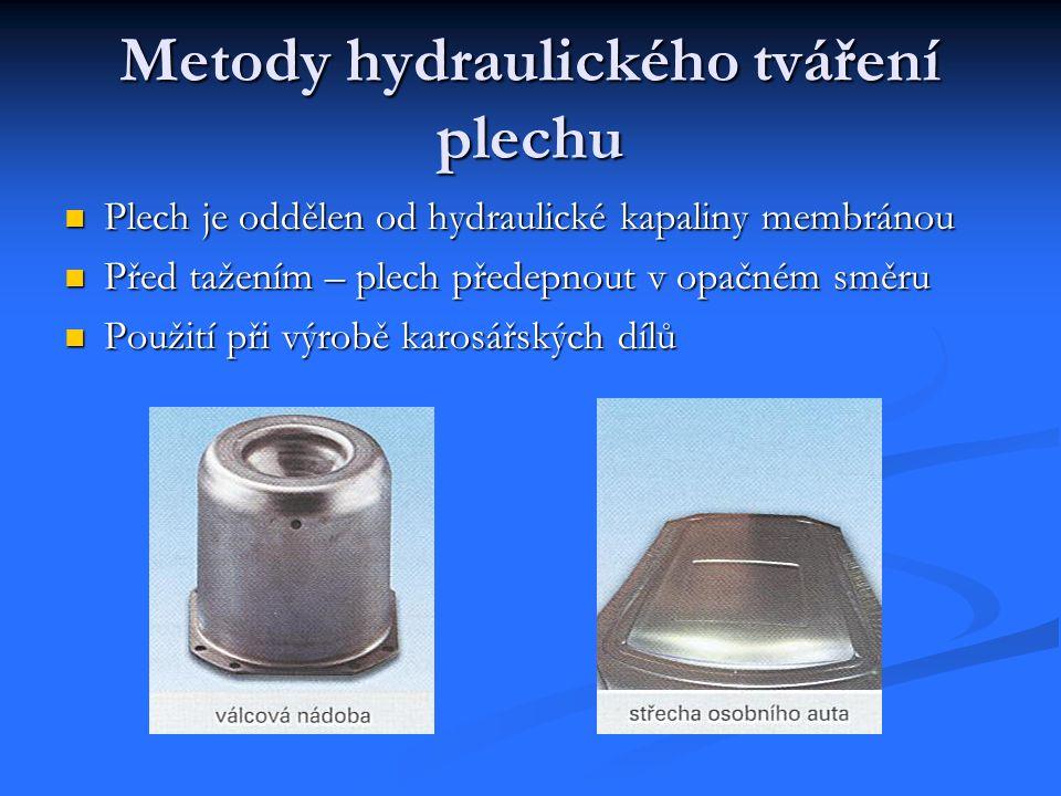 Metody hydraulického tváření plechu