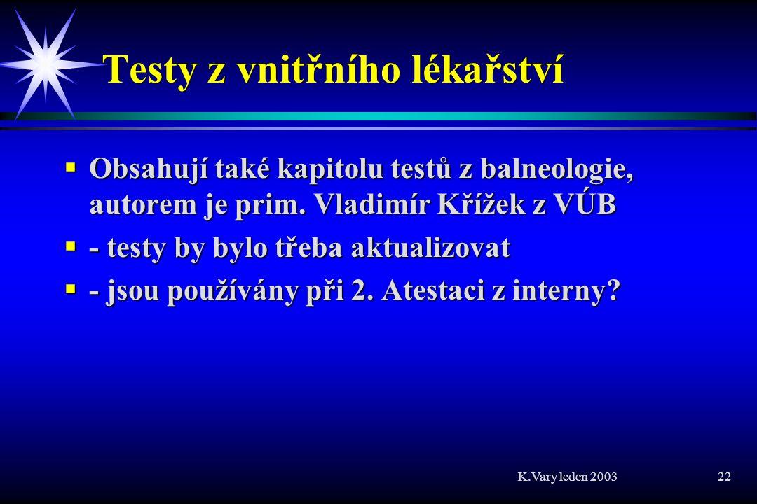 Testy z vnitřního lékařství