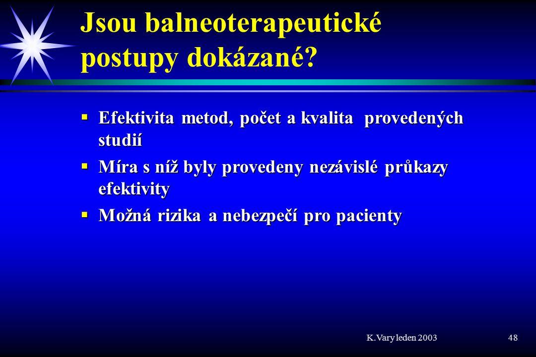 Jsou balneoterapeutické postupy dokázané