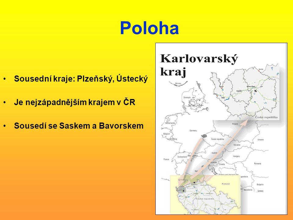 Poloha Sousední kraje: Plzeňský, Ústecký Je nejzápadnějším krajem v ČR