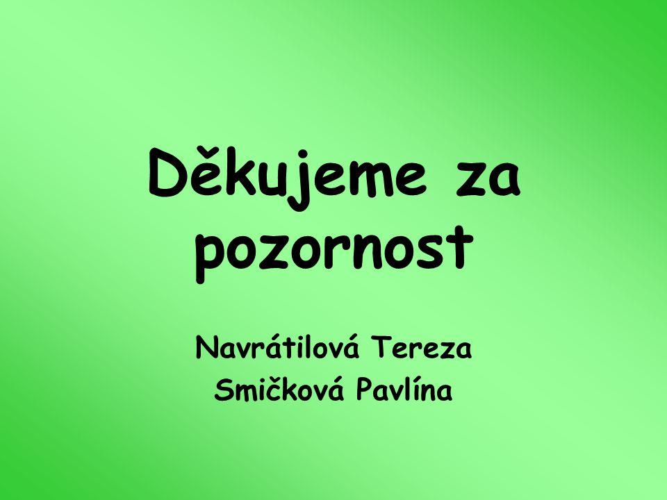 Navrátilová Tereza Smičková Pavlína