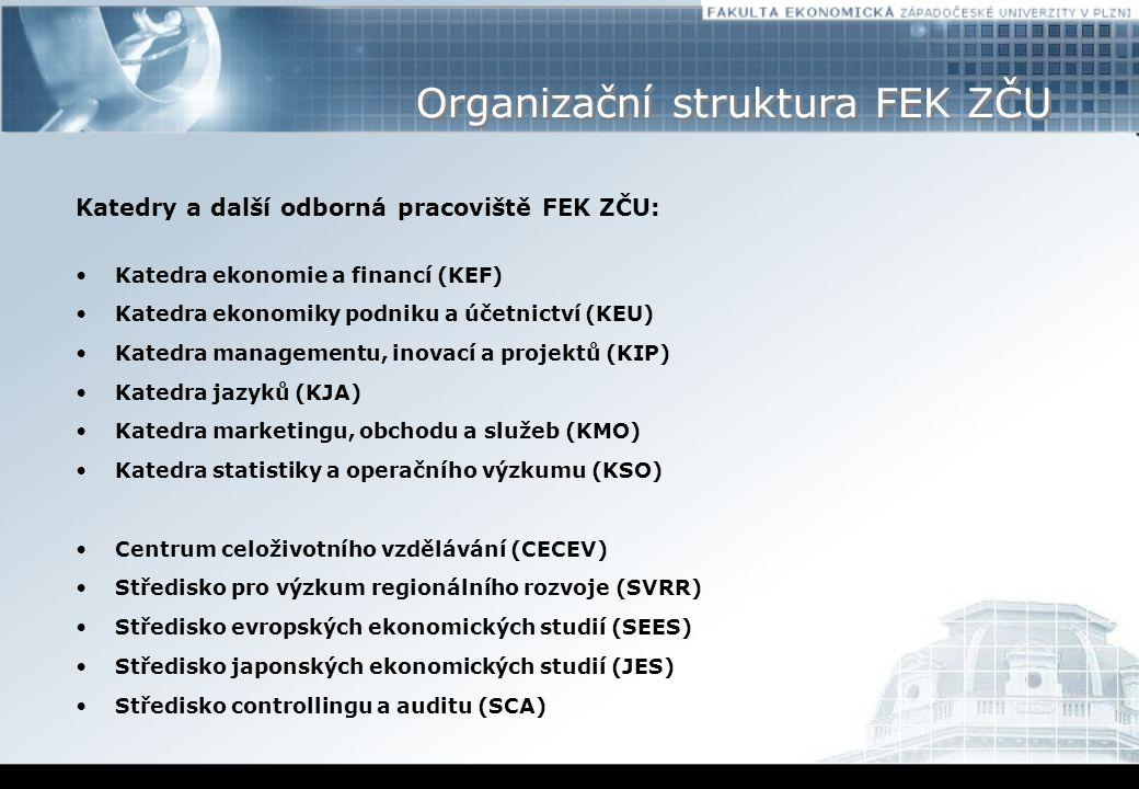 Organizační struktura FEK ZČU