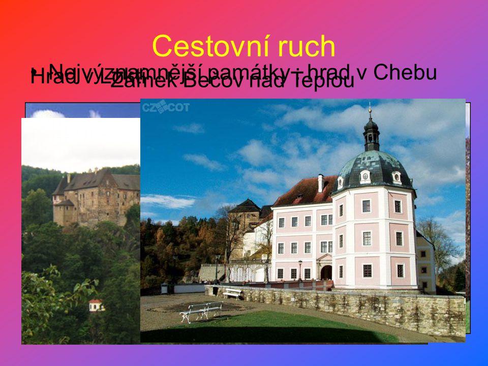 Cestovní ruch Nejvýznamnější památky : hrad v Chebu Hrad v Lokti