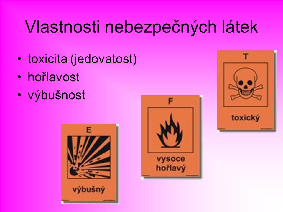 Vlastnosti nebezpečných látek