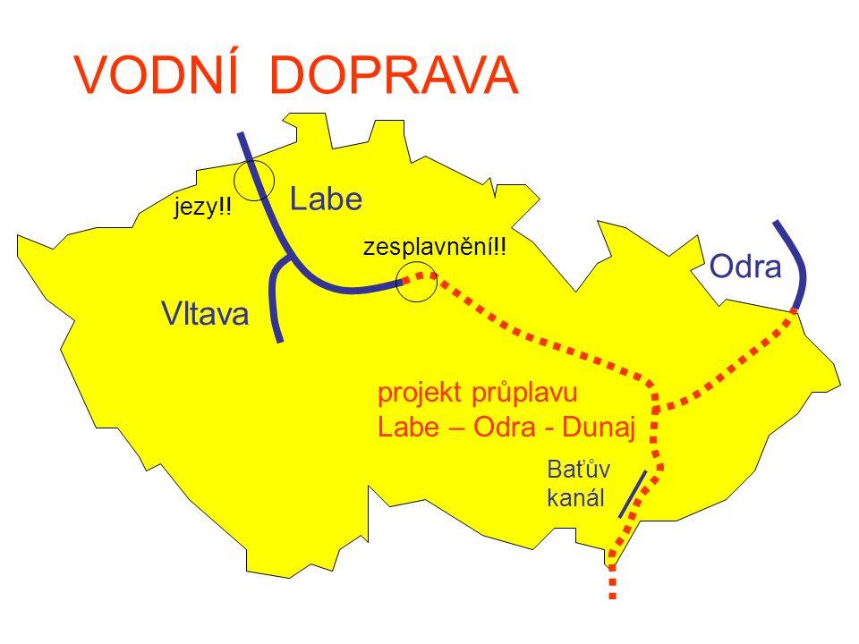 VODNÍ DOPRAVA Labe Odra Vltava projekt průplavu Labe – Odra - Dunaj