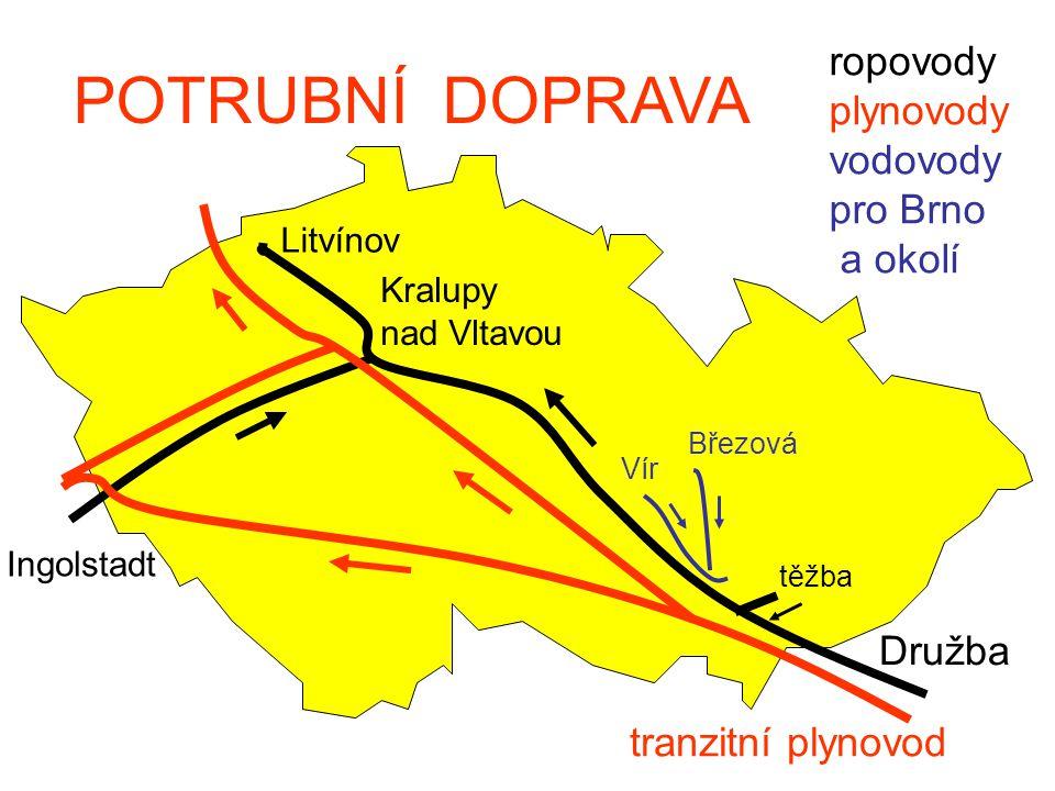 POTRUBNÍ DOPRAVA ropovody plynovody vodovody pro Brno a okolí Družba