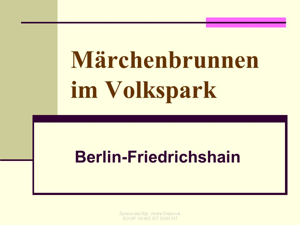 Märchenbrunnen im Volkspark