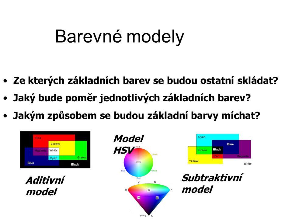 Barevné modely Ze kterých základních barev se budou ostatní skládat