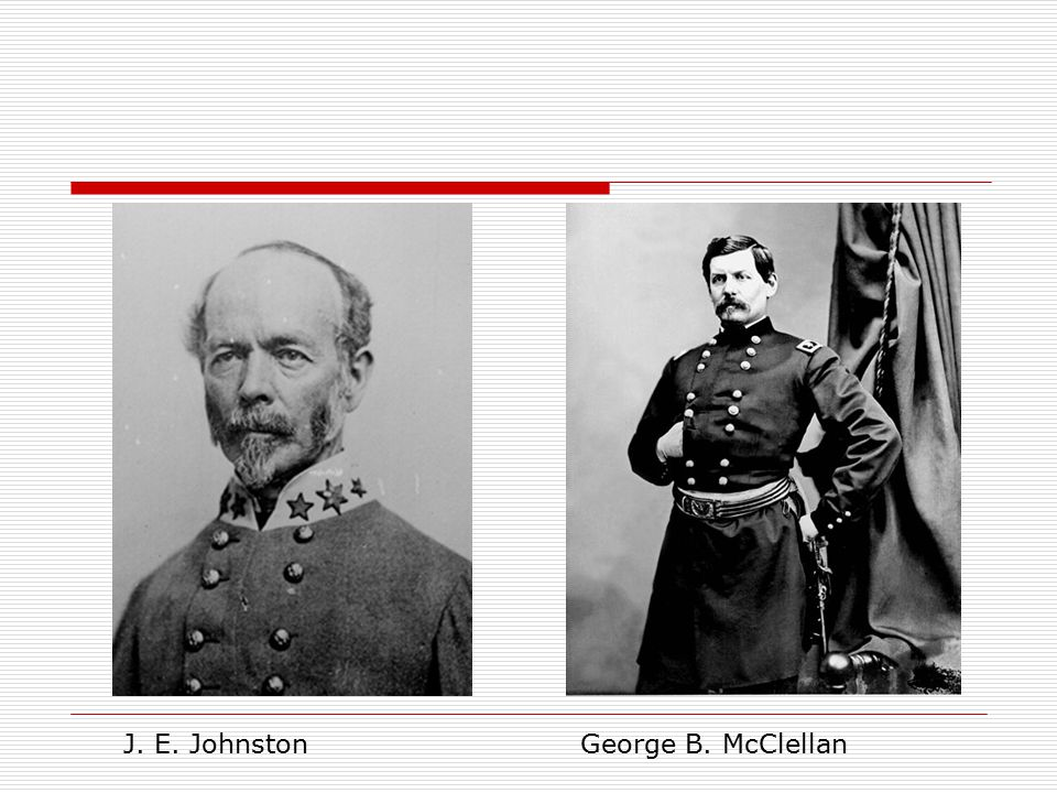 J. E. Johnston George B. McClellan