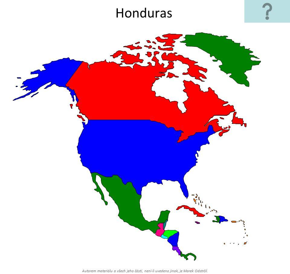 Honduras Autorem materiálu a všech jeho částí, není-li uvedeno jinak, je Marek Odstrčil.