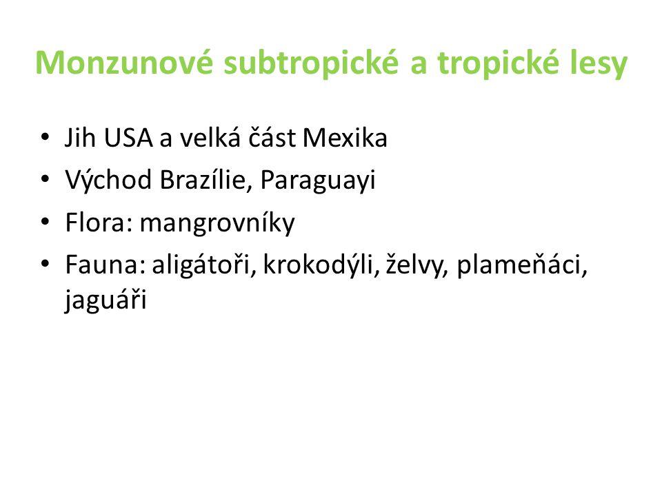 Monzunové subtropické a tropické lesy