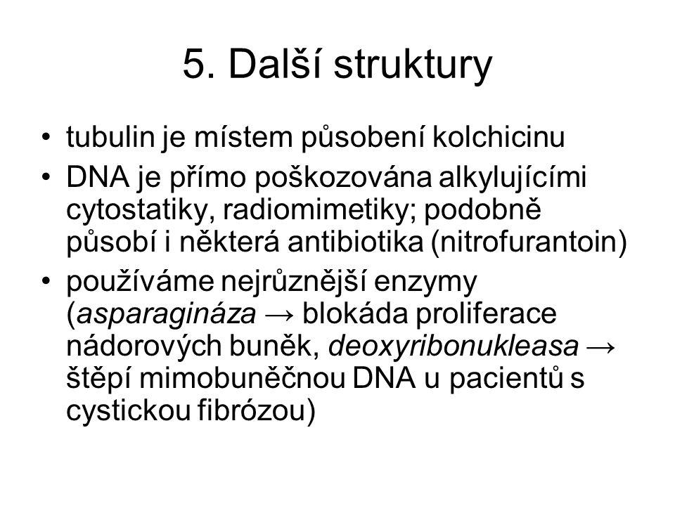 5. Další struktury tubulin je místem působení kolchicinu