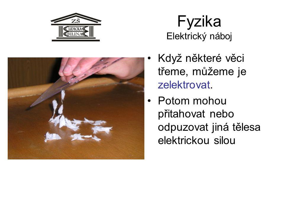Fyzika Elektrický náboj