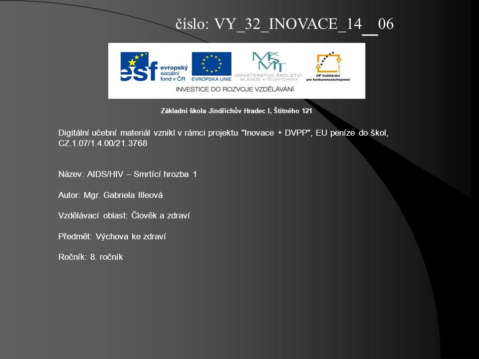 číslo: VY_32_INOVACE_14_06 Základní škola Jindřichův Hradec I, Štítného 121.