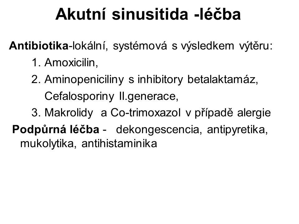 Akutní sinusitida -léčba
