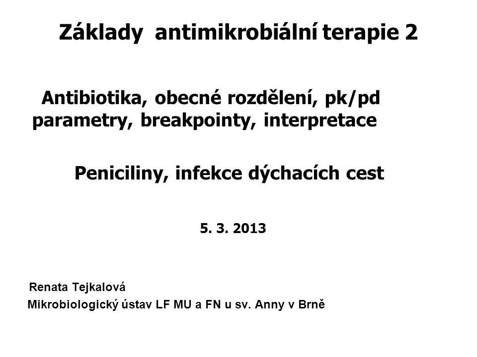Základy antimikrobiální terapie 2