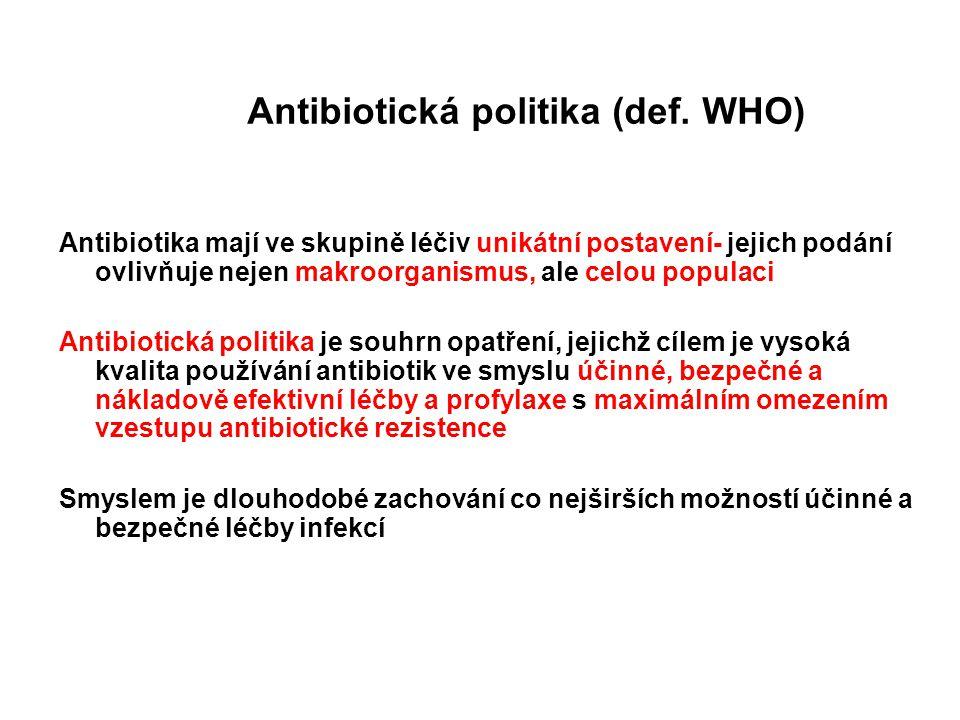 Antibiotická politika (def. WHO)