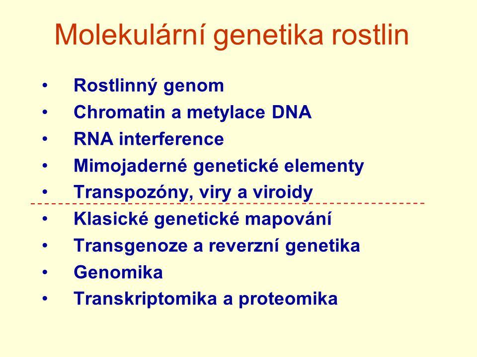 Molekulární genetika rostlin