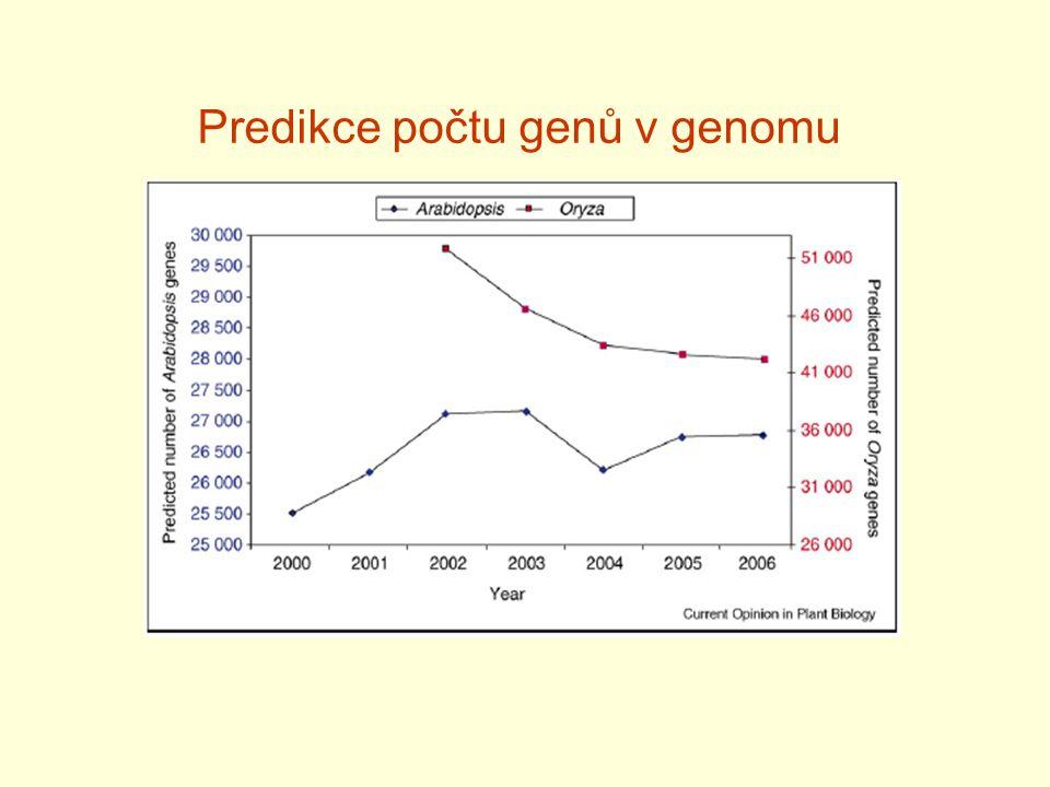 Predikce počtu genů v genomu